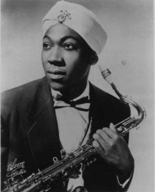 El saxofonista 'honker' Lynn Hope, con su atuendo distintivo: un turbante. BUENRITMO