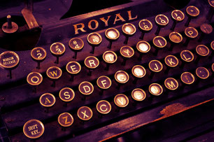 "Old typewriter of brand ""Royal"""