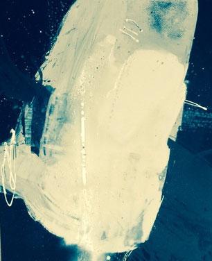 Bild: Sanftes Verlangen: 80 x 100 cm, auf Leinwand, Acryl-Mischtechnik, in Privatbesitz
