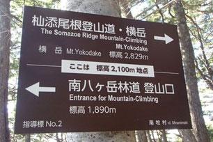 横岳登山コース