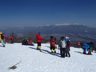 入笠山 山頂 スノーシュー