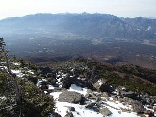 編笠山 雪山 ガイド
