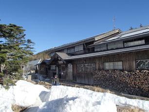 黒百合ヒュッテ 雪山 講習