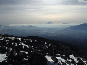 編笠山 雪山 登山