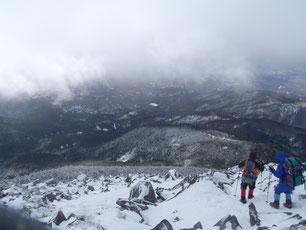 蓼科山 雪山 ガイド