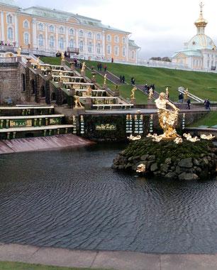 Fountain opening ceremony in Petergof