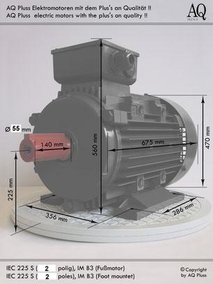 2-4 polig CAMV 225 SA 2/4 37 KW 9,5 KW