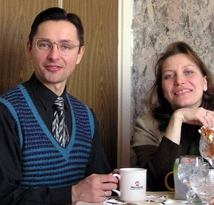 Районный надзиратель Роберт Рабушко с женой