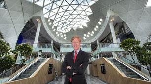 Jonathan Toulemonde, directeur de Westfield Vélizy 2.