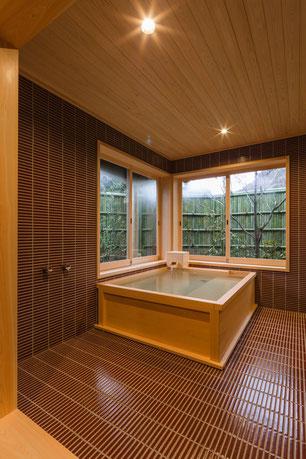 完成したお風呂