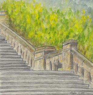 Grußkarte Trauer Stufen