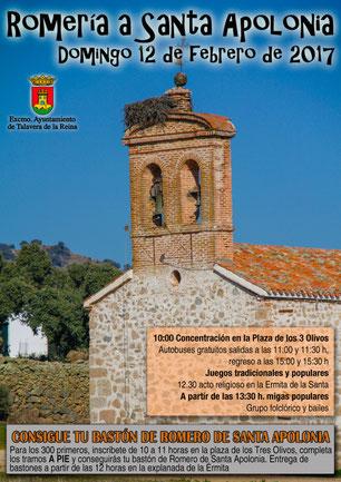 Fiestas en Talavera de la Reina Romería a Santa Apolonia