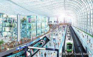 大阪メトロ・夢洲駅のイメージ