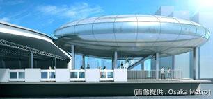 未来の新大阪駅のイメージ
