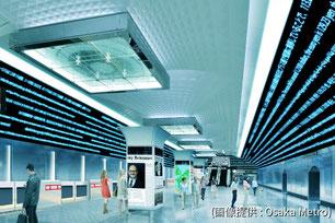 未来の梅田駅のイメージ