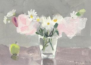 小さな花束  サムホール ガッシュ