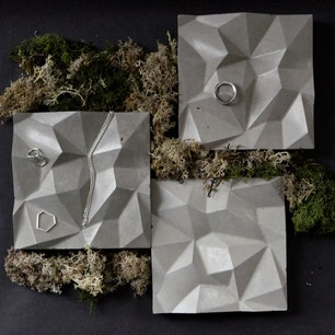 The concrete mountain tile one of two new jewellery display designs by PASiNGA art