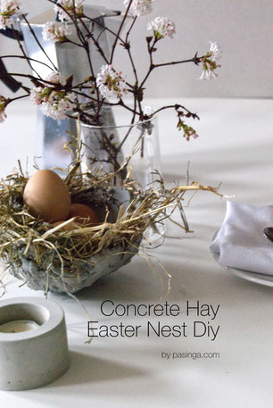 A Fun Family Concrete Hay Easter Nest Bowl Or Planter DIY