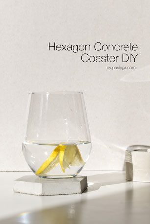 Modern PASiNGA Hexagon Concrete Coaster DIY