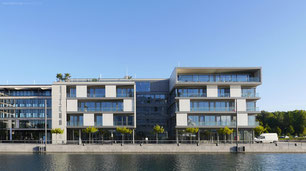 S.E.A.House sea house phoenixsee dortmund drahtler architekten planungsgruppe seebalkon hörde sonnenschutzeleme architektur