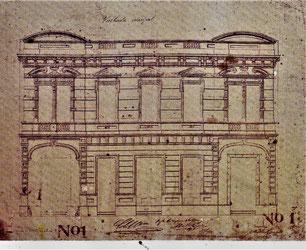 Plano del Edificio de Aguas Corrientes