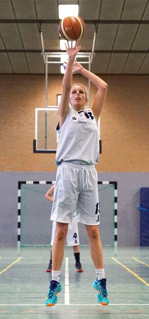 Hannah Lindemann erzielte 11 Punkte und wurde erneut Topscorerin ihrer Mannschaft. (Foto: Fromme)
