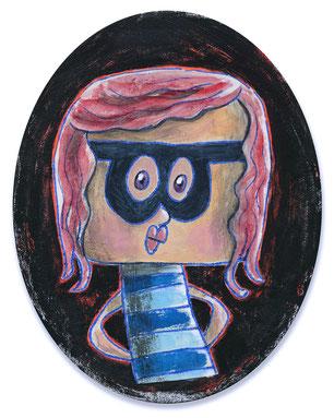 Acrylgemälde einer kleinen Diebin von Frank Schulz Berlin.