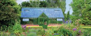 """Das englische Gewächshaus, Modell """"Manor """" von Hartley Botanic"""