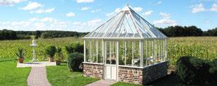 """Das englische Gewächshaus, Modell """"The Grange """" von Hartley Botanic"""