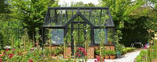 englische Gewächshäuser von Hartley Botanic, Modell Terrace