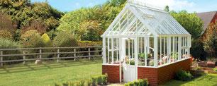 Englische Gewächshäuser von Hartley Botanic, Modell Grand Classic