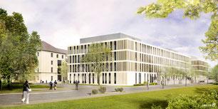 Flachdach Attika, Portalklinik, Sweco GmbH
