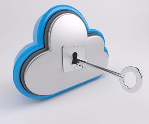 Wolke mit Schlüssel