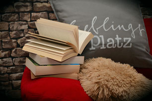 Bücher, Stofftier
