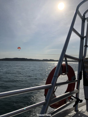 Parasailen Bay of Islands