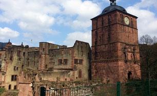 Heidelberger Schloss, Bibliotheksbau, Ruprechtsbau und Tor