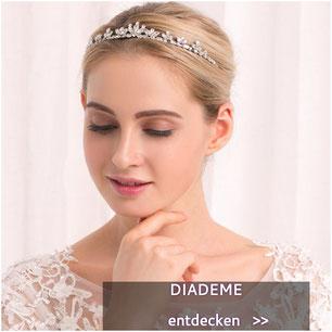 Diadem Strass Perlen