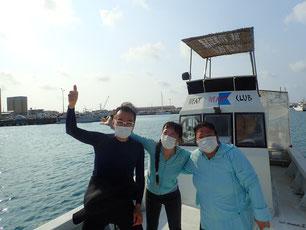 石垣島でのんびりダイビング「リピーターさん」ヒートハートクラブ
