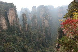 Zhangjiajie Nationalpark Yichang China Sightseeing Sehenswürdigkeiten Avatar