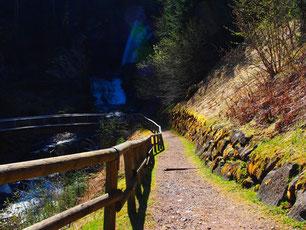 in Val die Fiemme - kleine Rast an einem Wasserfall