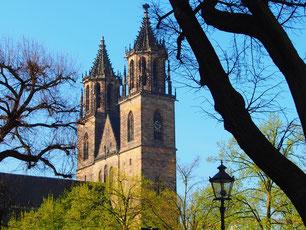 Blick auf den Magdeburger Dom, erbaut von 1209-1520