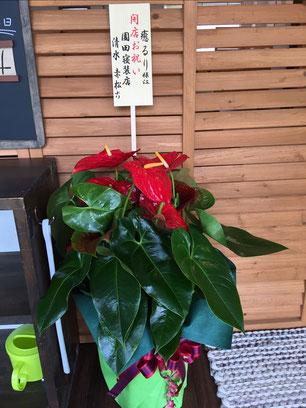 開業のお祝いの花