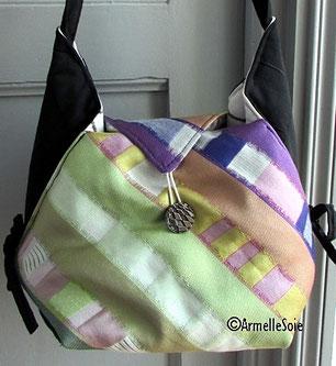 sac,bandoulière, besace,à main,fait main, France, vert,violet, beau tissu,velours,fabriqué en France, création textile, Bretagne