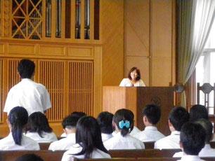 母校で職業講話