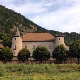 Château de Montmaur, vue, extérieur, Hautes Alpes, Montmaur