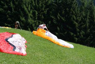 Vorbereitungen am Startplatz in St. Johann im Pongau Salzburg