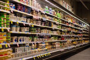 Supermarkt Regal Einkauf