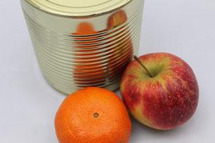 Orange Apfel Konserve