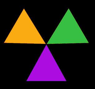 couleurs naturelles, couleurs arc en ciel, orange, vert, violet