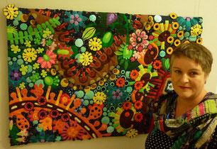 Art Quilt : Virtual Reality der Künstlerin Jutta Kohlbeck / Teilnahme an der Ausstellung : Tradition bis Moderne XI der Patchworkgilde Deutschland e.V. Quilt und Textilkunst
